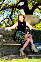 Modeling - Cemetery Photo Shoot